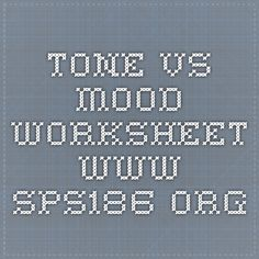Tone vs. Mood: very simple but to the point | Mood/Tone ...