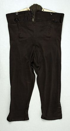 Breeches  Date:     ca. 1790 Culture:     British Medium:     silk Dimensions:     [no dimensions available] Credit Line:     Purchase, Iren... Accession Number: 1970.281.5