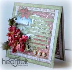 The Miracle of Christmas by Tracey Fehr - Cards and Paper Crafts at Splitcoaststampers Merry Christmas Card, Handmade Christmas, Christmas Cards, Poinsettia Cards, Heartfelt Creations Cards, Card Sentiments, Cool Cards, Christmas Inspiration, Christmas Projects