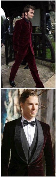 Whose velvet suit is better?
