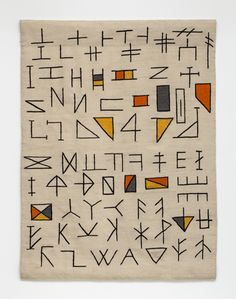 Untitled IV, 2014, haute lisse hand woven wool tapestry