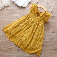 Image of Erica Lace Dress - Kinder Ideen Kids Dress Wear, Little Girl Dresses, Girls Dresses, Pageant Dresses, Short Dresses, New Baby Dress, White Baby Dress, Teenage Girl Outfits, Baby Outfits