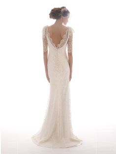 Elizabeth Filmore 2012 Bridal Collection- in love with the back detail, the V, lace and buttons!