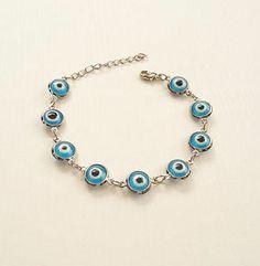 Light Blue Evil Eye Bracelet Kabbalah Hand Of Fatima Hamsa Silver Judaica Gift   eBay