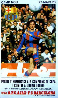 Johan Cruyff farewell match poster
