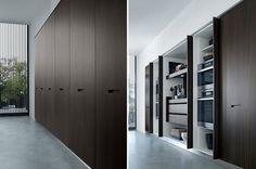 двери шкафа дизайн искусственная кожа черный темный устройство лондон MisuraEmme