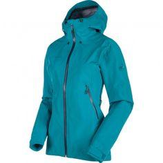 Mammut Ridge HS Hooded outdoor jack dames aqua