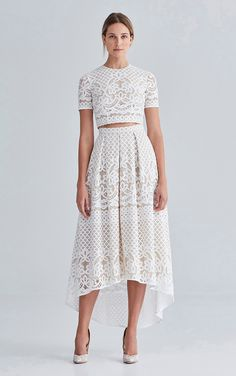 Bridesmaid separates - Lover White Magick skirt and crop top