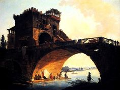 Robert, Hubert (b,1733)– Old Bridge- Ponte Salario, c 1775