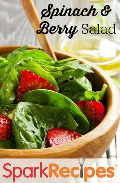 Spinach-Berry Salad  Recipe via @SparkPeople