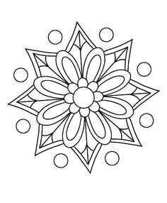 Cute Coloring Pages, Mandala Coloring Pages, Free Printable Coloring Pages, Coloring Books, Mandala Drawing, Mandala Painting, Dot Painting, Mandala Pattern, Mosaic Patterns
