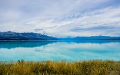 Tranquility - Lake Pukaki in New Zealand. Actually been there, it is breathtaking in person
