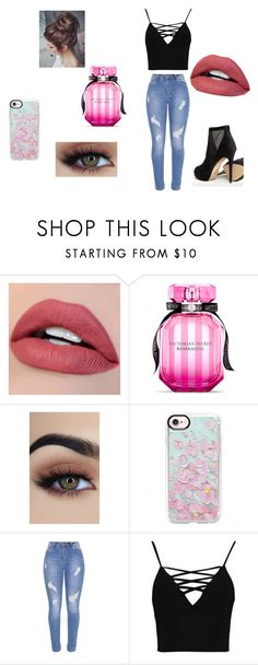 """""""date night"""" by savagequeen10526 on Polyvore featuring Victoria's Secret, Casetify, Boohoo and ALDO"""