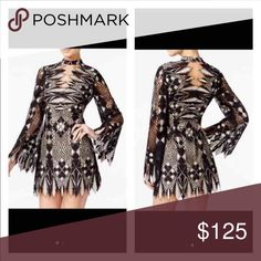 Free People Deco Mini dress 👗 SOLD OUT EVERYWHERE !  BRAND NEW !!!! SIZE 0 but would also fit size 2 Gorgeous for any event !  Purchased from FP store :) REG price 148.00 $ so the listed price is a steal Free People Dresses Mini