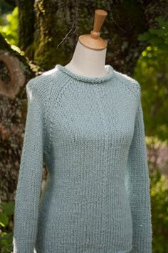 Cosy sweater knitted of Debbie Bliss Paloma