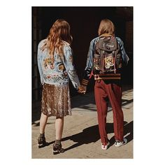 """Behind the scenes for the fourth and final chapter of #GucciStories """"The Myth of Orpheus and Eurydice"""" by Gia Coppola (@mastergia). Eurydice (@loudoillon) and Orpheus (@marcel.castenmiller) in looks from #GucciPreFall16, embroidered denim and silk jackets, a rose gold sequin dress with glass pearl studded boots, a patch embellished backpack and the #GucciAce sneakers by #AlessandroMichele. See """"The Petition of Hades"""" episode through link in bio."""