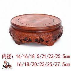 2019 New Style Red Rosewood Carving Handicraft Annatto Circular Base Of Real Wood Of Buddha Stone Are Recommended Vase Furnishing Articles Yet Not Vulgar Home Furniture Furniture