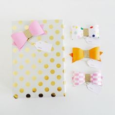 Paper Gift Bows: Pink and Gold
