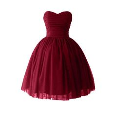 Victoria Dress Ball Gown Sweetheart Cocktail Dresses Satin Homecoming... (€17) ❤ liked on Polyvore featuring dresses, short dresses, sweetheart neckline cocktail dress, short sweetheart dress, red sweetheart neckline dress, red cocktail dress and short red dress