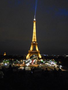 Nothing like happening upon the Eiffel Tower at night for the first time!