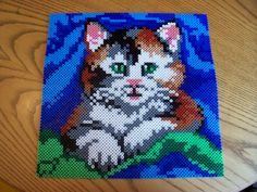 Cat hama perler beads (2x2 pegboards) by Shazann