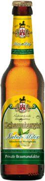 Schaumburger Natur-Alster - Für diese Variante wird ein mildes Bier mit sanfter Hopfung eingebraut, welches anschließend mit naturbelassenem Zitronensaft und natürlichem Zucker versetzt wird. Es entsteht ohne chemische Zusätze und zeichnet sich durch seine Frische und Spritzigkeit aus.