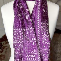 Surrealz Unique handcrafted Bengal Kantha Premier Pure Silk Scarves
