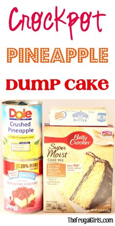 Crockpot Pineapple Dump Cake Recipe! ~ at TheFrugalGirls.com ~ this easy dessert is SO delicious... just dump it in the Slow Cooker and walk away!! #slowcooker #recipes #thefrugalgirls Slow Cooker Desserts, Crockpot Deserts, Crockpot Dessert Recipes, Dump Cake Recipes, Crockpot Dishes, Crock Pot Cooking, Cooking Recipes, Dump Cakes, Crockpot Meals