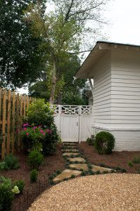 Gate and Cottage Garden Entry by Bellwether Landscape Architects