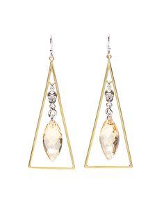 Gold Triangle Earrings - RocksNSugar