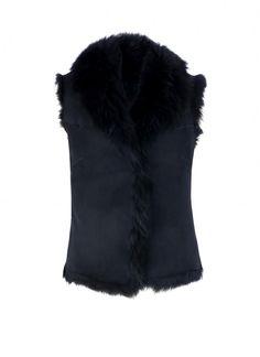 Long Haired Sheepskin Gilet - Womens' Coats & Jackets | Brora