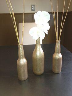 1 Large & 2 Small Metallic Bottle Set CUSTOMIZABLE COLORS. $18.00, via Etsy.