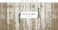 Modern and Chic Wedding Websites By Riley and Grey