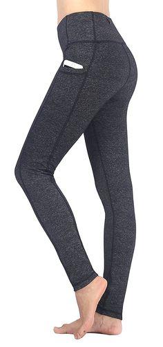 31827fa1ba814 Women's Ladies Capri Workout Leggings With Pockets Exercise Running Yoga  Pants - Yogaleggings-grey - CG1867XXAZW