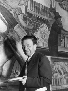 Diego Rivera at work.