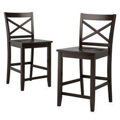 Target dark tobacco bar stool