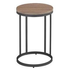 Munich Washed Oak/ Grey Metal Accent Table   Overstock.com Shopping - The Best Deals on Coffee, Sofa & End Tables