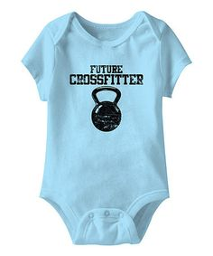 Aqua 'Future Crossfitter' Bodysuit - Infant #zulily #zulilyfinds