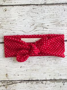 $10 The perfect classic retro pattern and style headband. These headbands tie on top or you can tie in the bottom for a bandana style.  Made of a super soft and stretchy cotton blend material.