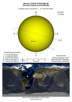 Меркурий будет виден на фоне диска Солнца 9 мая 2016