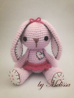 I love how this amigurumi bunny totally went up a level with just a bit of stitching on the feet and ears, I'll have to keep that in mind.