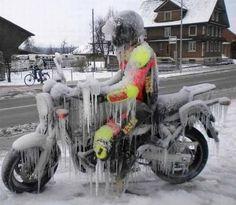 """""""War's kalt auf'm Motorrad?"""""""