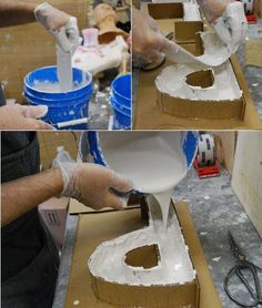 Plaster Letters Project | gotta try this!! #homedecorusingcardboard