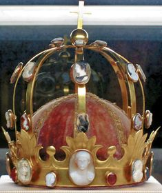 Crown of Napoleon, also known as Crown of Charlemagne, made in France in the 19th century, Louvre Museum via Wikimedia Commons