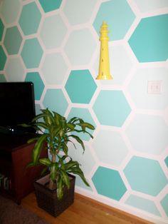 How to make hexagon wall