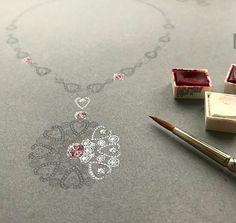High Jewelry, Jewelry Art, Gemstone Jewelry, Antique Jewelry, Photo Jewelry, Fashion Jewelry, Jewelry Design Drawing, Jewelry Illustration, Jewellery Sketches