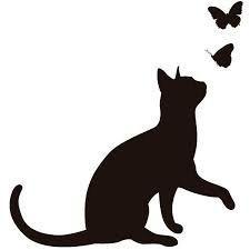 Resultado de imagen de silueta gatos enamorados