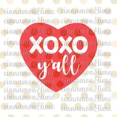 Xoxo Yall Svg Valentine Svg Valentines Day Svg Xoxo Svg Kiss svg Yall Svg by CinnamonAndLime from Cinnamon&Lime. Find it now at http://ift.tt/2jbIzxe!