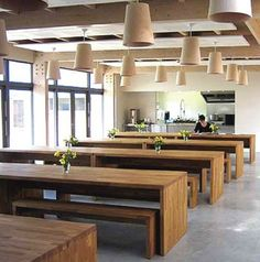 beautiful workplace cafeteria...neal's yard remedies, england