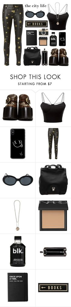 """The city life."" by shadowofday ❤ liked on Polyvore featuring Marc Jacobs, WithChic, RtA, American Apparel, Proenza Schouler, Rosa Maria, NARS Cosmetics, Bottega Veneta, Killstar and Spicher and Company"